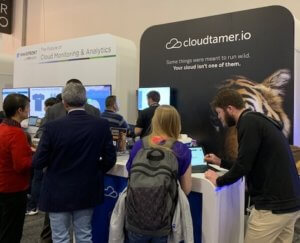 visitors to the cloudtamer booth