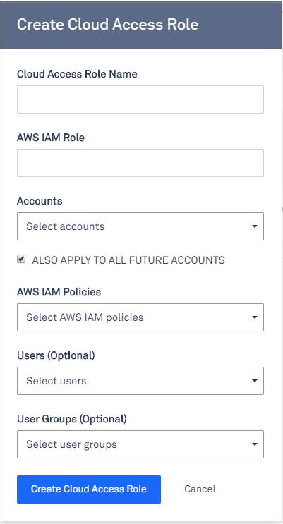 create cloud access role in 2.12